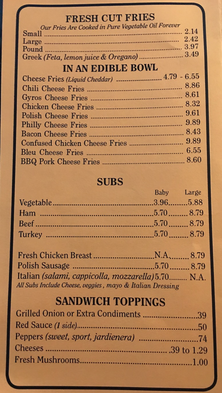 Susies drive in menu chicago